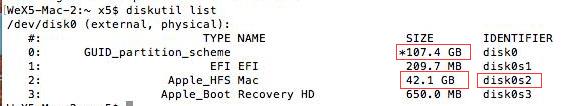 VMware运行Mac OS更新xcode时出现磁盘空间不足的解决办法